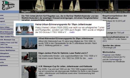 Ausschreibung / Online Meldung Heinz-Urban Gedächtnispreis