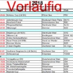 Entwurf für den Regattakalender 2018