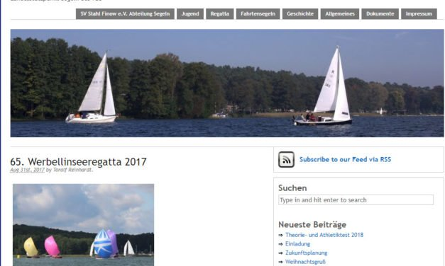 Ausschreibung und Onlinemeldung Werbellinseeregatta