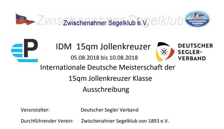 Auschreibung, Onlinemeldung und Meldelister für IDM