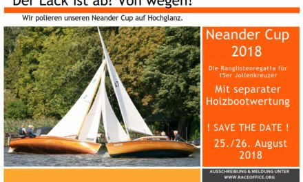 NeanderCup 2018 in Zeuthen mit seperater Holzbootwertung