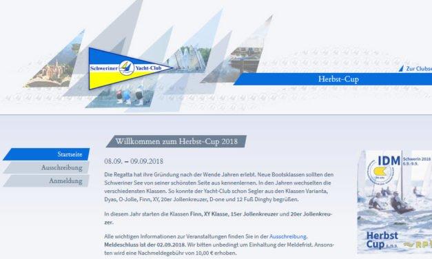 Ausschreibung und Anmeldung zum Herbst-Cup in Schwerin